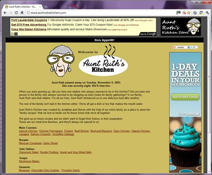 Aunt Ruth's Kitchen Screen