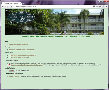 Gateway Arms Condominium Screen